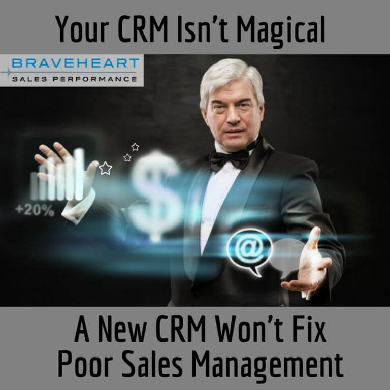 A CRM Alone Won't Fix Your Sales Management Problem
