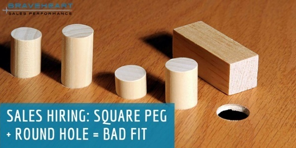 Hiring for Sales: Round Pegs Do Not Fit in Square Holes